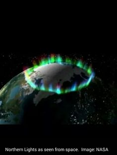 Northern Lights as seen from space. Image: NASA