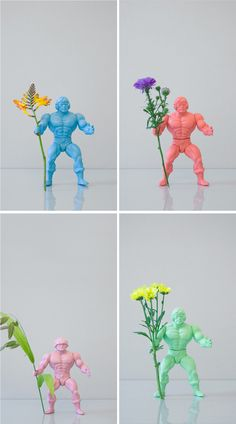 action figures and flowers (by Open Studio)