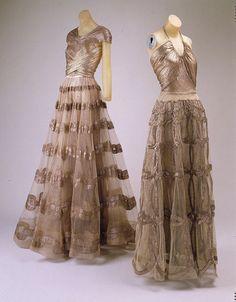 Vionnet Lamé Evening Gowns, circa 1938