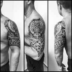 Meia manga finalizada. #maoritattoo #maori #polynesian #tattoomaori…