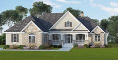 Country House Plan with 3140 Square Feet and 4 Bedrooms from Dream Home Source | House Plan Code DHSW076893