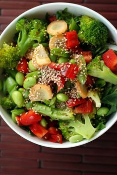 Buddha Veggie Bowl with a Ginger-Miso-Lime Dressing