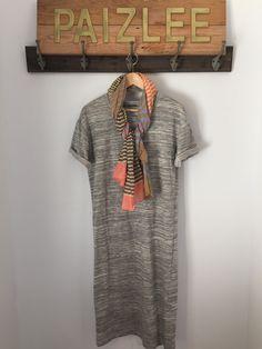 Jackie Striped Wraparound Scarf Short Sleeve Dresses, Dresses With Sleeves, Wrap Around, Shirt Dress, T Shirt, Shopping, Collection, Inspiration, Fashion