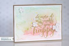 Stampin' Up! - Do More Of What Makes You Happy - Hello Life - Aquarell - Water Color - Itty Bitty ❤ Stempelwiese