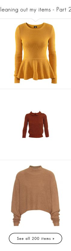 """""""Cleaning out my items - Part 21"""" by miky94 ❤ liked on Polyvore featuring tops, sweaters, shirts, h&m, mustard yellow, yellow shirt, shirt sweater, h&m sweaters, mustard shirt and h&m shirts"""