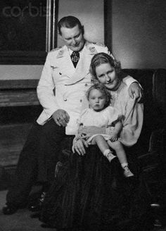 Hermann Goering with his wife, Emmy Sonneman, and daughter, Edda, ca. 1940.