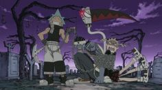Soul Eater ~~ Black Star overdoes it AGAIN. He binds Sid, Soul, and Maka with poor Tsubaki. oh my....