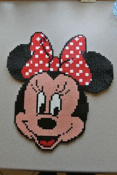 Minnie Mouse hama perler beads by taxie25
