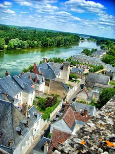 """PIN 500. """"Vue sur la Loire du chateau d'Amboise."""" by niko Kaptur. Because Queens' Play is my favourite book in this series."""