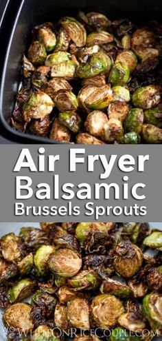 Super Easy Air Fried Brussels Sprouts Recipe in the Air Fryer that's crispy and amazing! Crispy recipe for brussels sprouts in air fryer for low fat paleo Balsamic Brussel Sprouts, Crispy Brussel Sprouts, Roasted Sprouts, Healthy Brussel Sprout Recipes, Healthy Recipes, Best Brussel Sprout Recipe, Air Fryer Recipes Brussel Sprouts, Shredded Brussel Sprouts, Yummy Recipes