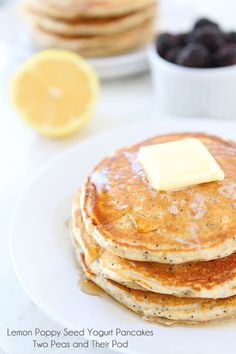 Impress overnight guests with these Lemon Poppy Seed Yogurt Pancakes.