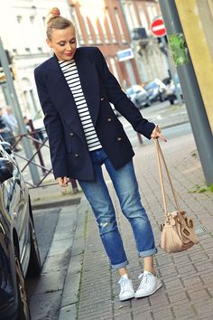 blazer #jeanneDamas #LaRedoute - baskets #stanSmith - sac #paraty #chloe  --> http://www.modenmarie.com/le-blazer-jeanne-damas-pour-la-redoute.html