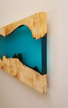 Items similar to Sold - Wood and epoxy wall mount - Epoxy Wall Hang - Wood and Epoxy Art - Live Edge - Epoxy Wall Art - Wood Wall Hang on Etsy Resin Wall Art, Resin Artwork, Wood Wall Art, Resin And Wood Diy, Wood Resin Table, Wood Table Design, Resin Furniture, Reclaimed Wood Projects, Wooden Art