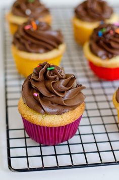 Yet another conquest completed.......... to find a recipe to make a homemade version of a previously store bought item......... Yellow cupcakes, the perfect accompaniment to chocolate frosting. The...