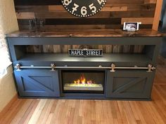 Barn Door TV Console by KnoxRestoration on Etsy Home Appliances, Home, Tv Console, Barn, Steel Barns, Furniture Giveaway, Small Furniture, Barn Door Console, Barn Door Tv Console