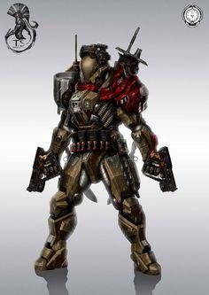 Sci-fi battle armor 4
