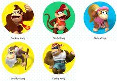 Donkey Kong, Print Pictures, Luigi, Kong Kong, Mario, Video Games, Nintendo, Printables, Game Room