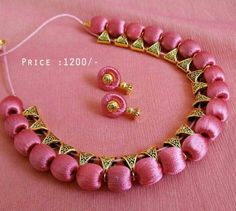 Shopo.in : Buy Silk Thread Simple Necklace Set online at best price in Chennai, India