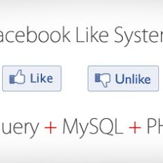http://www.tutodev.com/facebook-like-system-with-jquery-mysql-and-php There Are many Rating system in the internet , but the like and dislikeis really a welcomed project so i had created a simple like and dislike fromsurfing the internet and i found this great script and made some changes to this to make really a good rating system for you to use.