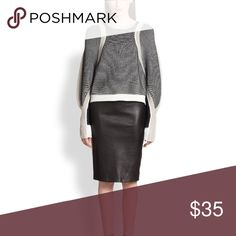 Leather pencil skirt Authentic leather. Fits loosely around your legs Alfani Skirts