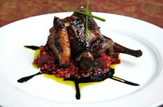 Balsamic-Glazed Squab, Crushed Clementine And Grits Recipe ...