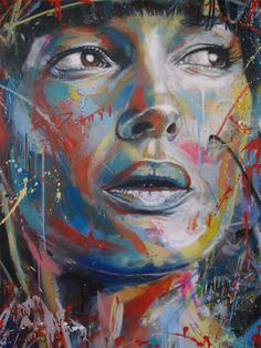 spray painted portraits by David Walker.