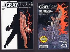 FULL RUN 3 COMIC BOOKS GRAY AREA #1, 2, 3 Image 2004 grey John Romita Jr.