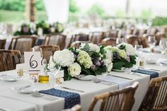 rustic reception tabletop decor / photo by Brooke Images