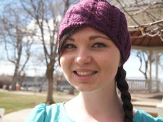Byzantine Deep Purple Knitted Ear Warmer by KnittingWriter on Etsy, $25.00
