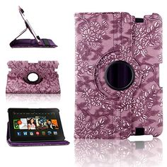 "myLife Pretty Petunia Purple {Embossed Big Blossoms Elegant Vines} 360 Degree Rotating Case for Amazon Kindle Fire 8.9 HDX (High Quality Koskin Faux Leather Cover + Slim Lightweight Design) ""All Ports Accessible"" myLife Brand Products http://www.amazon.com/dp/B00TOYC0D8/ref=cm_sw_r_pi_dp_eo2avb19QJCVM"