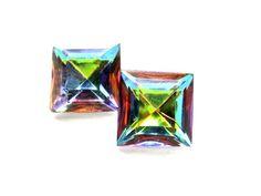 Rainbow Swarovski Crystal Earrings by BreatheCouture