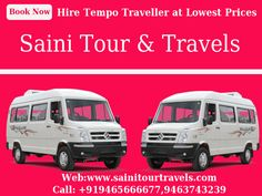 We offer fast, convenient and safe #Tempo #Traveller service in #Chandigarh, #Mohali & #Panchkula Saini Tour & Travels