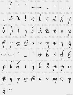 Geek Funnies: And here is how to write in Lord of the Rings Elvish