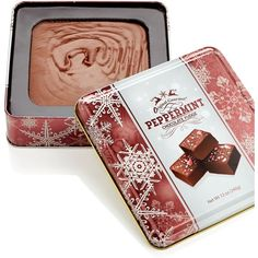 Original Gourmet Peppermint Fudge Tin ($8.99) ❤ liked on Polyvore featuring home, kitchen & dining and no color