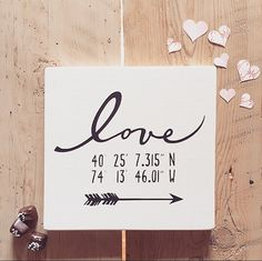 This listing is for a Love sign featuring lovers GPS coordinates. Coordinates could be where the couple first met, where they said their wedding vows,