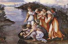 Resultado de imagen para imagen de pinturas de rafael, Dios se muestra a Moisés