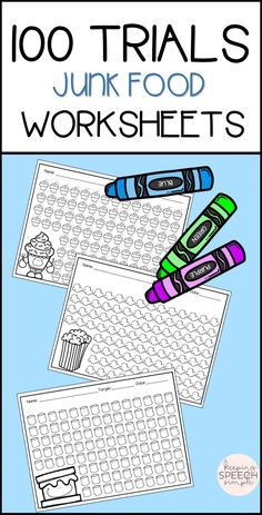 These 100 trial no prep worksheets will have your students motivated to complete drill work in your therapy room. These sheets are versatile enough to work with PK through upper elementary school. If your students don't like to color, they can cover with stickers, ink daub or cover with your choice of markers. Makes working with mixed groups so easy!  Just print and go! No color ink required!