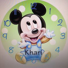 Mickey Mouse Baby Boy Personalized Wall Clock on Etsy, $19.99