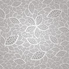 Seamless vintage silver lace leaves wallpaper pattern — Stock Illustration #18614833