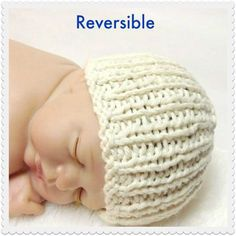 (6) Name: 'Knitting : Organic Cotton Heirloom Baby Hat