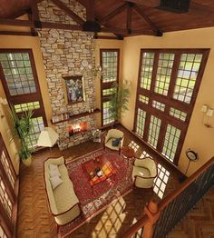 Tudor style home plan offers 2541 living square feet, 4 bedrooms and 3 bathrooms. Old Mansions Interior, Mansion Interior, Tudor Style Homes, Cottage Style Homes, Country Victorian Decor, Fancy Living Rooms, English Cottage Interiors, Two Story House Design, House Plans And More