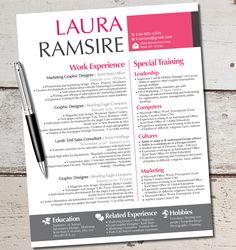 The Laura Jane Resume Modern Custom Design by VivifyCreative, $52.00