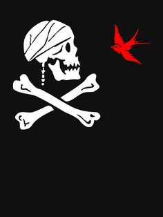 """""""The Flag of Captain Jack Sparrow"""" T-Shirts & Hoodies by NevermoreShirts 