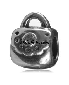 This beautiful fashion handbag .925 Sterling Silver European charm fits Pandora, Biagi Trollbeads, Chamilia, and most charm bracelets find out more at adabele.com