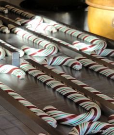 2012 Dates for Disneyland's Handmade Candy Canes. Also available at Disney California Adventure's Trolley Treats.
