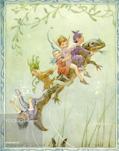 'Newt' - Illustration from the book 'The Pond Fairies'