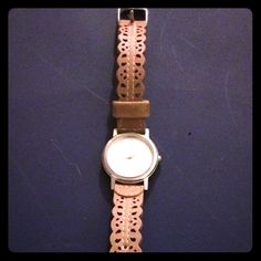 Like New Brown Leather Watch Beautiful lace-like details. Lightly worn, but looks like new! Mossimo Supply Co Accessories Watches