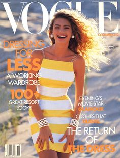 Michaela Bercu wears Perry Ellis by Marc Jacobs, Vogue, November 1989