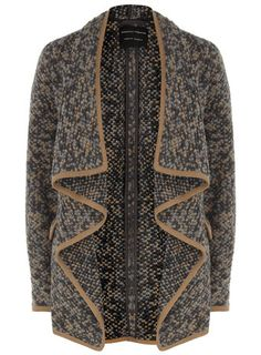 ♥Love the cut of this cardigan♥ (Dorothy Perkins  Brown and grey cardigan)