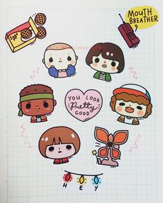 Stranger Things Sticker Pack Code: SPST ~~~ 1-3 inch glossy hand-cut paper stickers ❤️ $3 USD (international) / 100 PHP (within PH) + shipping DM to order Stranger Things fan art illustrations by @chichilittle Fan art only. Stranger Things is an intellectual property of The Duffer Brothers. No copyright infringement intended. ❌ Please do not reproduce our images. ❌